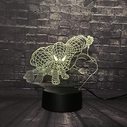 WisdomMi lámpara de noche barata, 3D 16 colores - de reloj dorada...