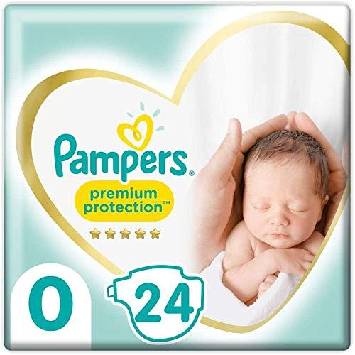 Pampers Größe 0 Premium Protection Baby Windeln, 24 Stück, Weichster Komfort Und Schutz (1.5-2.5kg)