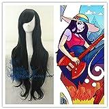 Hora de aventura Mujeres Marceline cosplay Moda peluca Chica la Reina Vampiro Marceline largo negro pelo largo Moda peluca disfraces