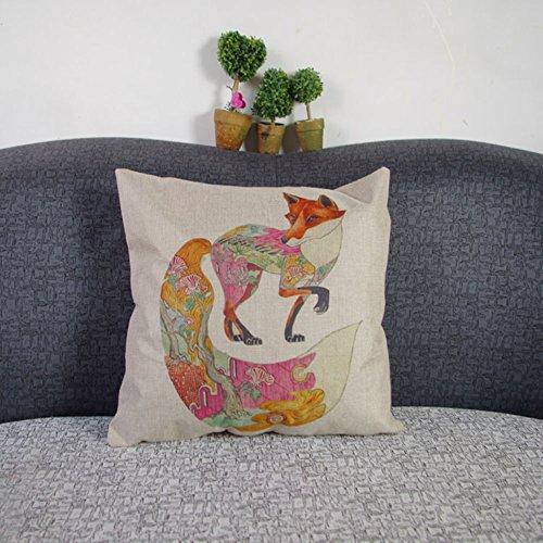 Leinenbaumwoll Kissenbezüge 45cm x 45cm in verschiedene Muster (Krake)