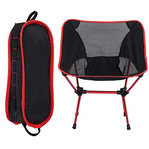 Dilwe Opvouwbare campingstoel, aluminiumlegering, draagbaar, lichtgewicht, mini vissen, stoel, strandstoel voor outdoor vissen, kamperen, wandelen