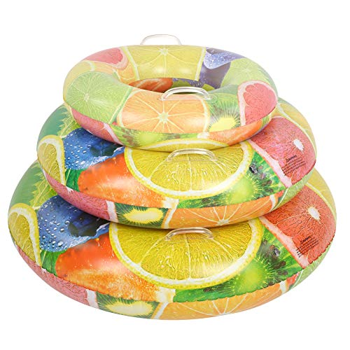 Baby zwemmen ring zwembad float, fruit opblaasbare kinderen zwemmen ring baby zwembad float cirkel zwembad speelgoed trainer(L)