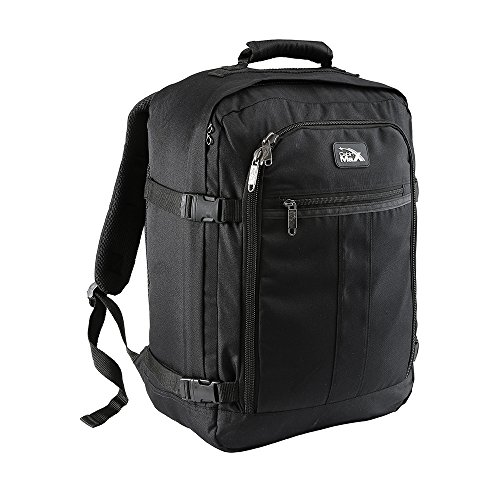 Cabin Max Metz 30 Litre Carry On Backpack 45 x 36 x 20 cm Suitable for Wizz air and Easyjet underseat Allowance (Black)