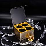 KANARS 4er Set Whisky Gläser, Bleifrei Kristallgläser, Whiskey Glas, 300ml, Schöne Geschenk Box, Hochwertig - 8