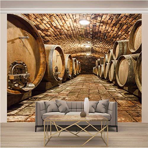 Msrahves posters para pared Bodega vino tinto barricas pared vinilos decorativos papel fotografico 3D Fondos de pantalla Fondo Pared Sala de estar Dormitorio TV Sofá Mural Papel tapiz