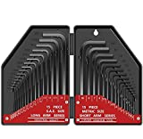 Hex Key Wrench Set, Kingsdun 30 in 1 Hex-L Allen with Hard Case
