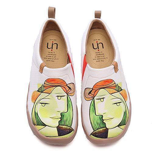 UIN Mocasín de Mujer Ponerse Slip-on Planos de Deslizamiento Mocasines de Conducción Mocasín Zapatillas Comodos de Zapatos