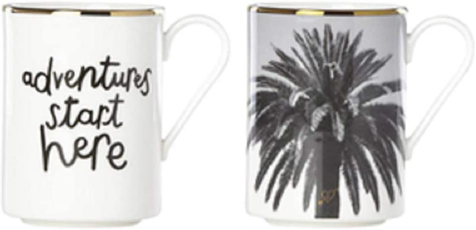 Kate Spade Spirit of Adventure Set 2 Gifting Mugs Max 59% OFF Special price for a limited time