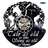 xcvbxcvb Belleza y el Mejor Reloj de Pared de Vinilo Creativo Cuento Tan Antiguo como el Tiempo Reloj de Parede Reloj Parede Relojes de Pared Reloj de Pared