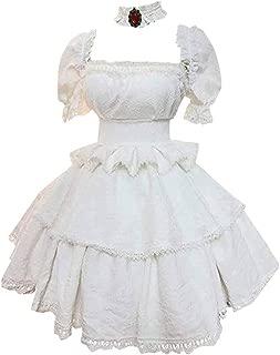 Anime Booette Princess White Long Sexy Dress Cosplay Costume