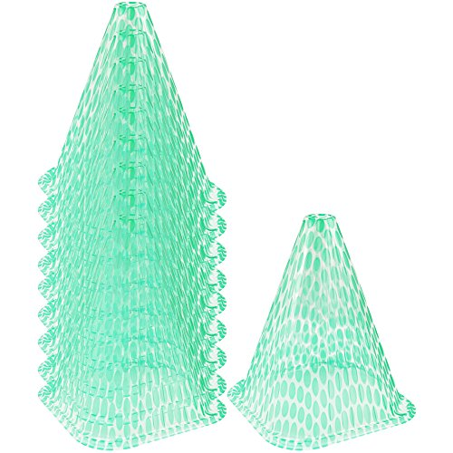 com-four® 10x Sonnenhut für Pflanzen, Pflanzenschutzhaube Wachstumshilfe, ca. 23 cm hoch (10 Stück)