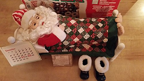 Telco Sleeping Santa Snoring Whistling Animated Electronic Motionettes