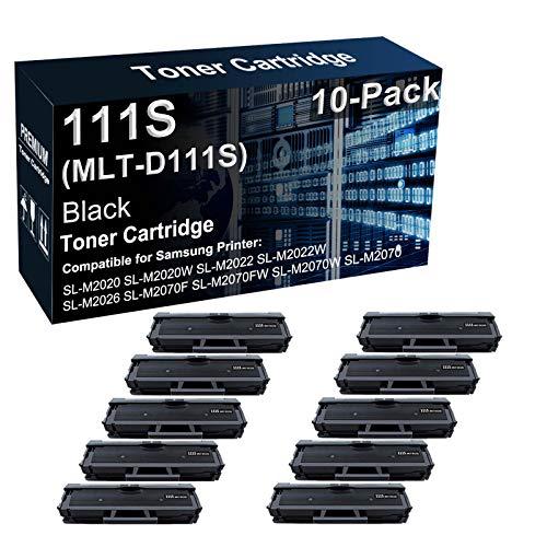 10 cartuchos de tóner compatibles Xpress SL-M2020W SL-M2022 SL-M2026 SL-M2070F SL-M2070FW para Samsung MLT-D111S 111S (negro, alta capacidad)