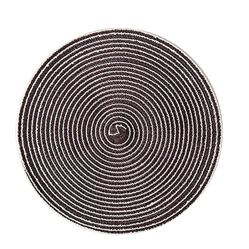 Western Placemats, Steak Placemats, Large Round Placemats, Nordic Poplementers, Bowl Mats (4 PCS) (Color : Dark Brown, Size : Medium)