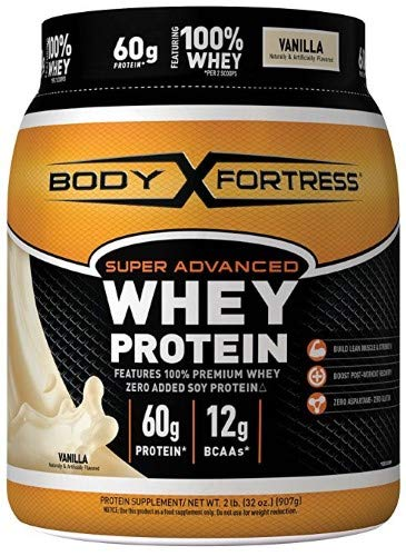 Body Fortress Super Advanced Whey Protein Vanilla-2 Lbs Powder (Pack of 4)
