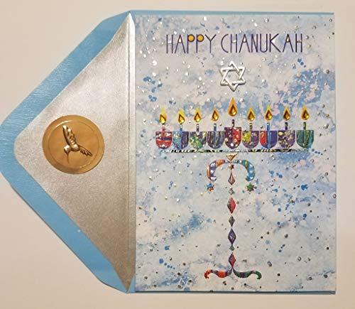PAPYRUS Cards Whlsl Hanukkah, 1 Each- Menora Happy Chanukah Card