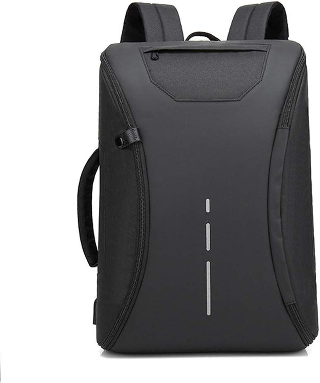 J.SPG Mnner-Rucksack Anti-Diebstahl multifunktionalen Oxford Casual Laptop-Rucksack mit USB Charge Waterproof Travel Bag Computer Bag