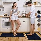 Pretigo Kitchen Rug Sets - Rugs for Kitchen Floor Washable,Non-Slip Soft Kitchen Mat Set,Chenille...
