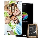 dessana Coque de protection transparente en silicone TPU pour LG G4 - 0,7 mm d'épaisseur - Motif...
