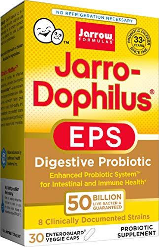 Jarrow Formulas Jarrow Formulas Jarro-dophilus EPS Ultra Potent, 50 Billion Cells Per Capsule, 30 Veggie Caps (Cool Ship, Pack of 3)