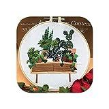 Kit de bordado de bricolaje Paquete de material de bordado 3D Serie de plantas Herramienta de punto de cruz Bordados Decoración de pintura colgante de principiante primario-7-