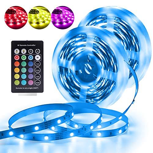 Led Strip Lights RGB 24 Keys Strip Lights with RF Remote Control 32.8ft/10M Multi-Color Strip Light