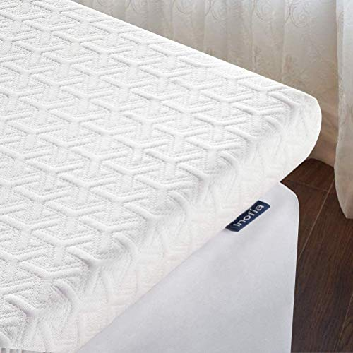 Inofia Super King Mattress Topper, ECOGRREN 6CM Memory Foam Mattress Topper with Washable Tencel Cover, Dual Layer to Soften Any Sleep Surface -100Night Test at NO Risk
