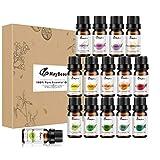 Maybeau Ätherische Öle Set 100% Pur & Naturreines Aromatheraphie Duftöl 15 x 5 ml Jasmin Salbei...