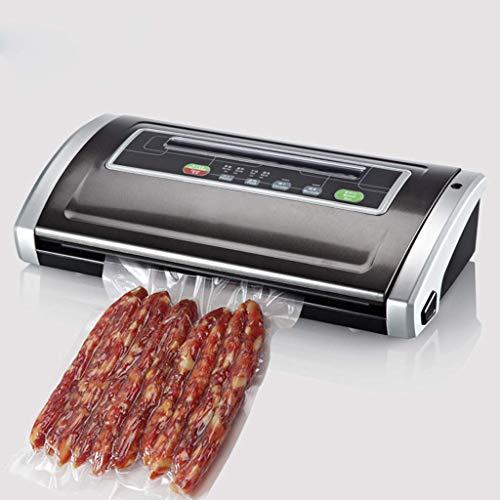 Lichtgewicht Eten Sealer Machine, Vacuum Voedsel Savers for het luchtdicht bewaren van voedsel, Reseal Snackzakken, Heat Zeehonden plastic zakken, Black zhihao (Color : Black)