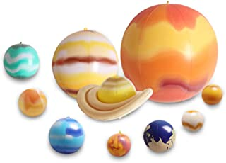Wonderful ltd. Inflatable Solar System,Science/Educational Tool Teaching Model Balloons Planets/Outer Space Birthday Party Supplies 10 PCS