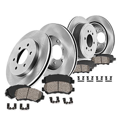 CRK14032 FRONT 329 mm + REAR 342 mm Premium OE 6 Lug [4] Rotors + Ceramic Brake...
