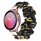 YSSNH 20mm Quick Release Watch Bands Compatible Galaxy Watch Active 2 40mm 44mm Lightweight Comfortable Bling Scrunchie Band for Women Samsung Galaxy Watch 3 41mm Band