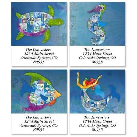 Seahorse Return Address Label
