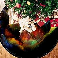 ツリースカート クリスマスツリースカート ギター マルチ 宇宙 ホリデーデコレーション メリイクリスマス飾り 下敷物 可愛い 雰囲気 クリスマスパーティー 直径107cm