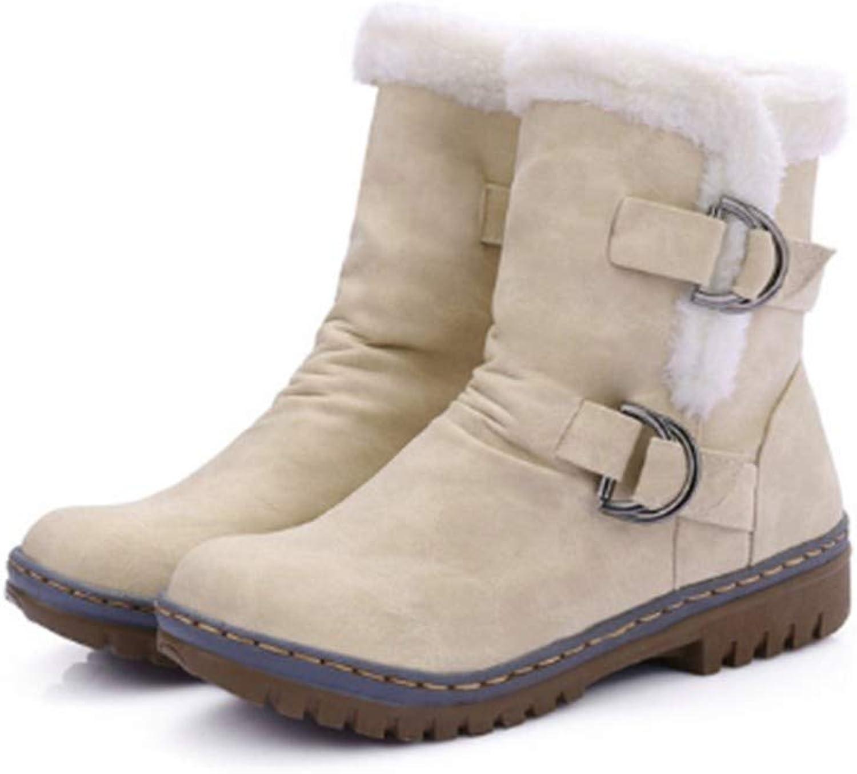 FMWLST Stiefel Frauen Schnee Stiefel Winter Schuhe High Heels Heels Heels Schnee Stiefel Winter Stiefeletten Warm Rutschfest  962979