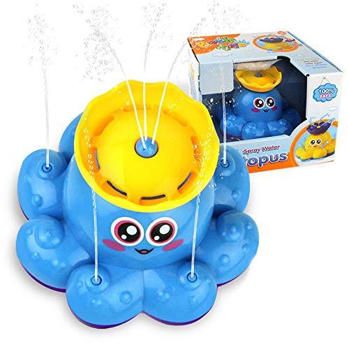 WMBATH Baby Bad Speelgoed, Elektrische Spelen in Water Octopus Water Spray Speelgoed, Drijvende Badkuip Douche Zwembad Badkamer Roterende Plezier Speelgoed