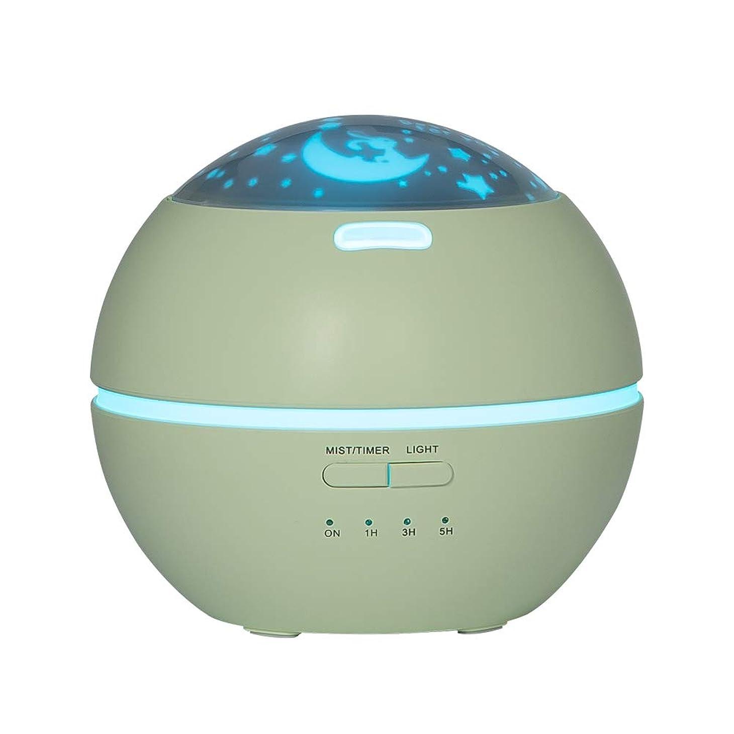 フレッシュ男らしさサバントLIBESON 加湿器 卓上 超音波式 アロマディフューザー 8色LEDライト変換 超静音 ミス調整可能 時間設定タイマー機能付き 空焚き防止機能搭載 アロマ加湿器 ホワイト150mL (グリーン)