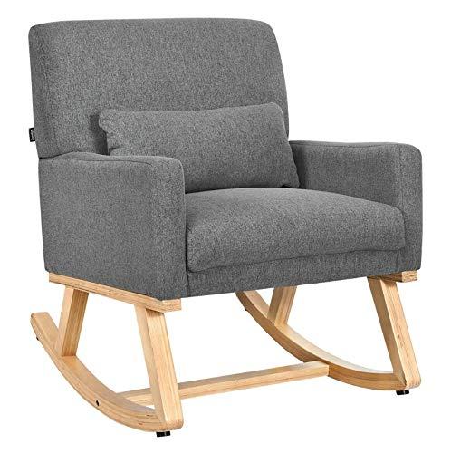 Indoor Rocking Chair for Nursery Baby Best Massage Rocker Adults Lumbar Support