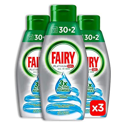 Scopri offerta per Fairy Platinum Gel Brezza Marina, Detersivo Per Lavastoviglie, Maxi Formato da 96 Lavaggi