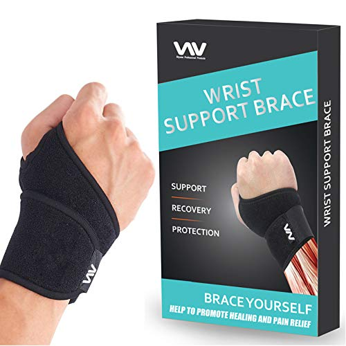 Wrist Brace for Carpal Tunnel, Adjustable Wrist Support Brace for Arthritis and Tendinitis, Wrist Compression Wrap for Pain Relief, Suitable for Both Right and Left Hands