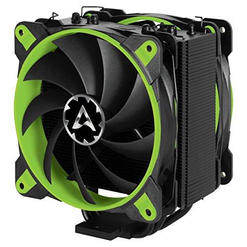 Arctic Freezer eSports Edition – Dissipatore di processore semi-passivo con ventola da PWM 120 mm, Dissipatore per CPU fino una potenza di raffreddamento – Verde