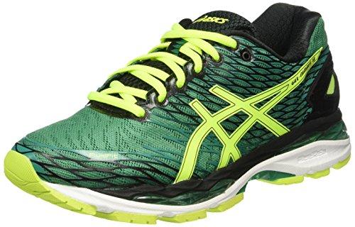 Asics Gel Nimbus 18 - Zapatillas de Running, Unisex, Verde (Pine/Flash Yellow/Black), 39