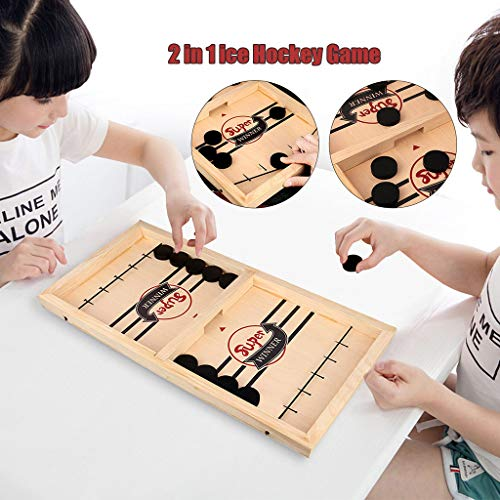 Affordable Pikolai Tabletop Airhockeytable Wooden Desktop Hockey Catapult Chess Table Game for Kids ...