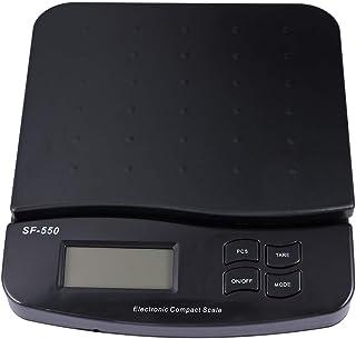 Toyvian - Báscula electrónica de precisión con luces LED, báscula portátil, báscula de cocina para paquetes postales, color negro
