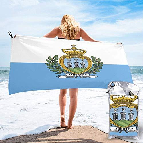 Lewiuzr Bandera de San Marino Toalla de Ducha Super Bath Cover Up Toallas Suaves envolturas de baño para Hombres y Mujeres al Aire Libre