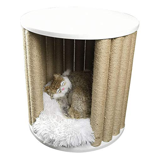 Topinged Katzenhaus neues Haustier Katze Klettergerüst Katze Möbel Mode nach Hause Katze Kratzbrett Kratzbaum Beistelltisch Couchtisch multifunktionales Katzenbett