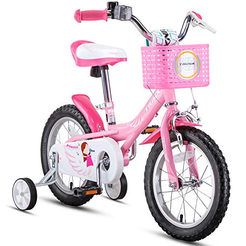14 inch Kids Bike,Boys Girls Freestyle BMX Bicycle,Toddler Bike,Children Bicicleta Gifts,Strider Bike,Balance or Training Wheels,Fat tire Bike for Kids