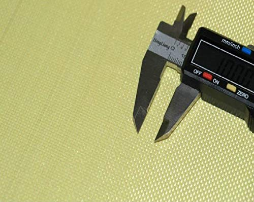 StickersLab - TESSUTO Aramide fibra di KEVLAR 240 g/m² plain - 1 mq per giubbotto antiproiettile (1100mm(110cm) x 1 Metro)