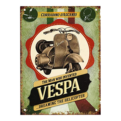 Vespa Motorcycle Blechschilder Dekoration Retro Vintage Metall Stil Retro Poster Cafe Bar Movie Gift Bathrooms Garages