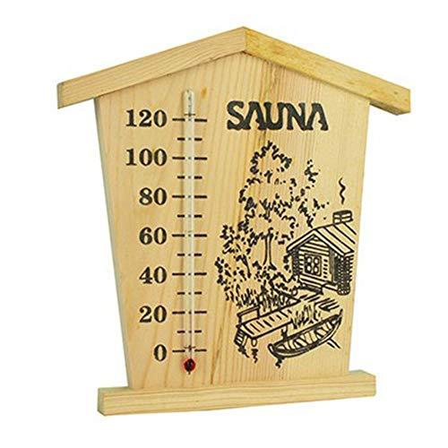 Eventualx Thermometer Sauna Klimamesser Messstation Hygrometer Holz Präzise Digitalanzeige Feuchtemessgerät Saunaraumzubehör, Thermometer Hygrometer Im Holzrahmen